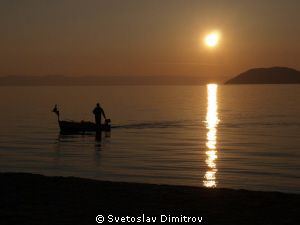 First sunset for 2011 at Chalkidiki, Greece by Svetoslav Dimitrov 